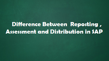 What is Reposting, Distribution and Assessment – The difference between these three?