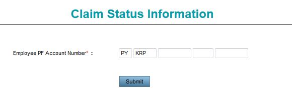 EPF Claim Status online – Employee Provident Fund Claim Status Online