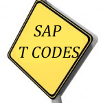 SAP Transaction Codes