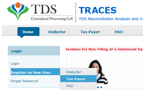 Tax payer Registration form 16B