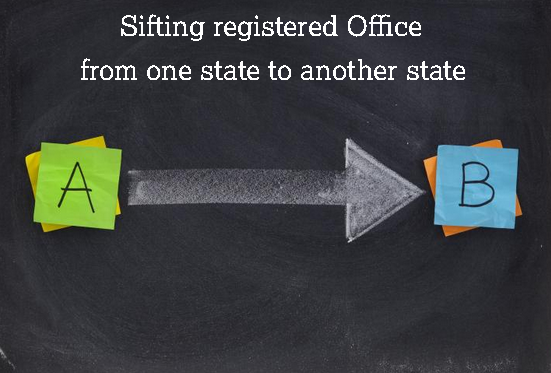 sifting registered office from one state to another state