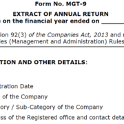 form mgt9 to be attached with company directors report